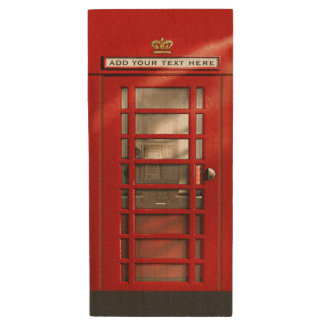 Classic Red British Phone Booth Wood USB 3.0 Flash Drive