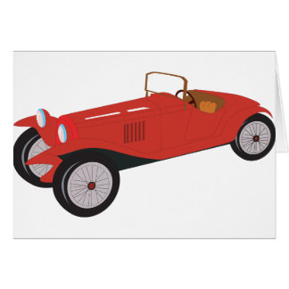 Classic Red Car Note Cards