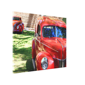 Classic Red Cars wrapped canvas Canvas Prints