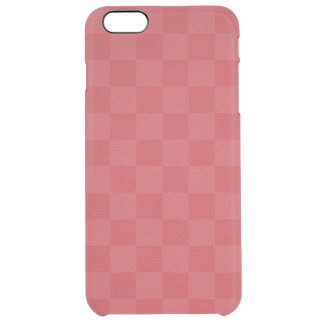 Classic Red -Checkers- Custom Clear iPhone 6 Plus Case