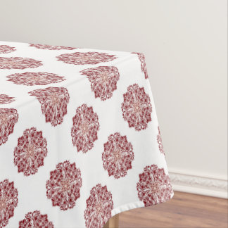 Classic red floral damask medallion tablecloth
