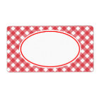 Classic Red Gingham Kitchen Labels