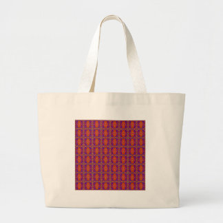 Classic Red Pattern By Nate Large Tote Bag