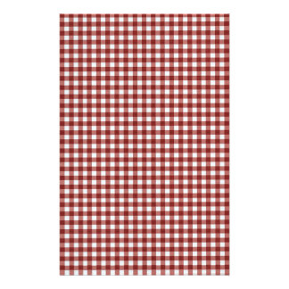 Classic Red Picnic Gingham Stationery