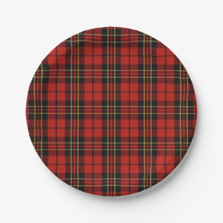 Classic Red Plaid Paper Plates 7 Inch Paper Plate