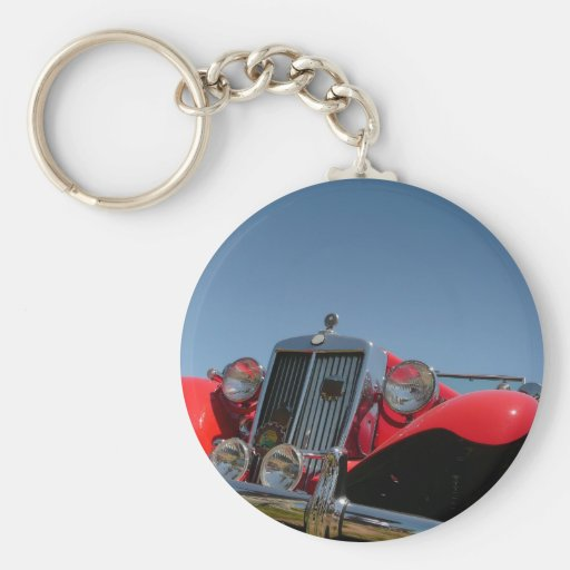 Classic Red Roadster Key Chains