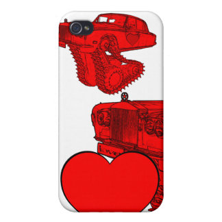 Classic Red Rolls Royce Valentine's Fantasy iPhone 4 Cases