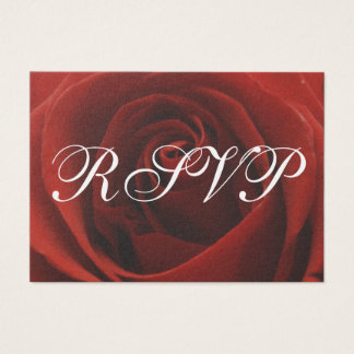 Classic Red Rose Wedding RSVP Response Card