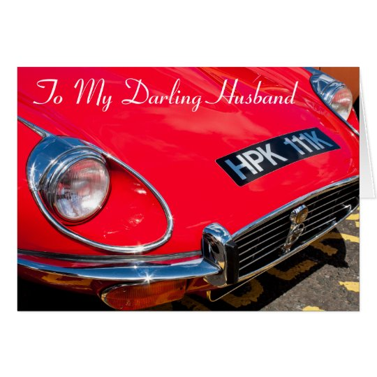 Classic Red Sports car Birthday card