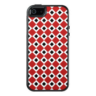 Classic Red, White, Black Diamond Pattern OtterBox iPhone 5/5s/SE Case