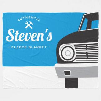Classic Retro Car | Customized Name Own Brand Fleece Blanket