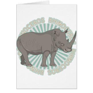 Classic Rhinoceros Card