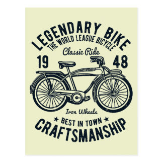 Classic Ride Bicycle Legendary Bike Craftsmanship Postcard