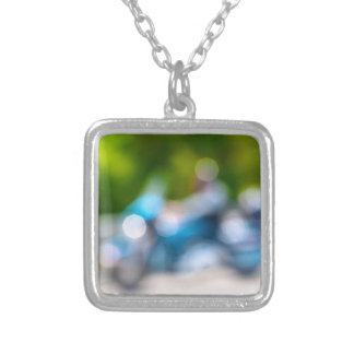 classic rider silver plated necklace