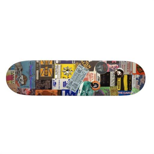 """""""Classic Rock Backstage"""" Skate Deck Skate Boards"""