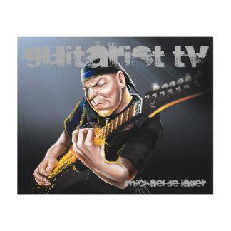 Classic Rock Guitarist TV Canvas