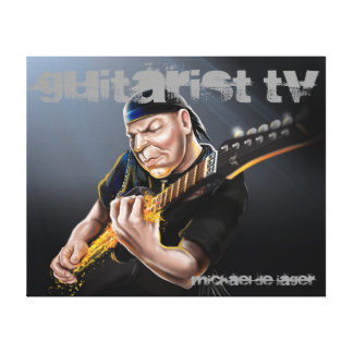 Classic Rock Guitarist TV Canvas Gallery Wrap Canvas