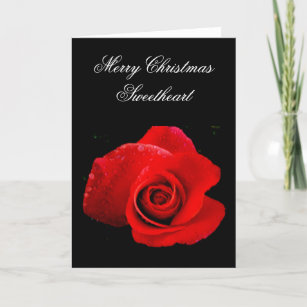 Romantic christmas cards zazzle uk classic romantic red rose christmas card m4hsunfo