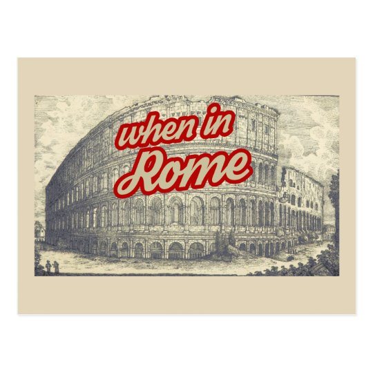 Classic Rome Colosseum postcard