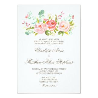 Classic Rose Garden Elegant Wedding Invitation
