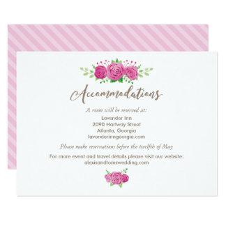 Classic Rosiness Accommodation Card 9 Cm X 13 Cm Invitation Card