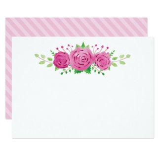 Classic Rosiness Blank Wedding Note Card 13 Cm X 18 Cm Invitation Card