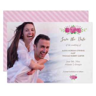 Classic Rosiness Save The Date Card