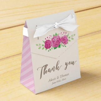 Classic Rosiness Wedding Favor Box Wedding Favour Box