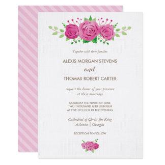 Classic Rosiness Wedding Invitation