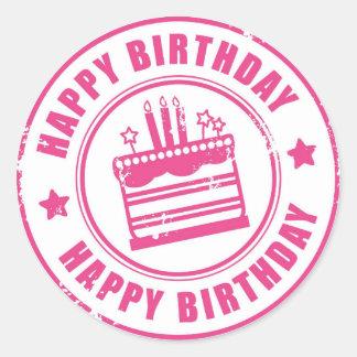 Classic Round Sticker/Happy Birthday Round Sticker