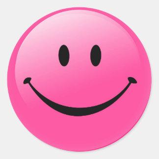 Classic Round Sticker/Smiley Face Round Sticker