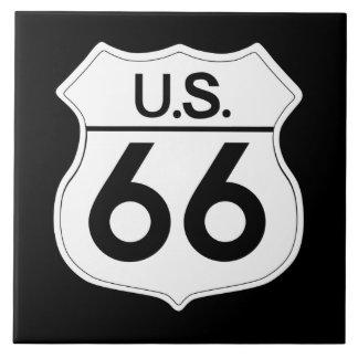 Classic Route 66 Large Kitchen Tile
