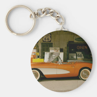 Classic RT 66 Gas Station Key Chains