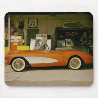 Classic RT 66 Gas Station Mouse Mat
