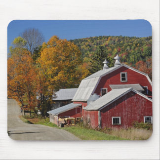 Classic rural barn and road, White Mountain Mouse Pad