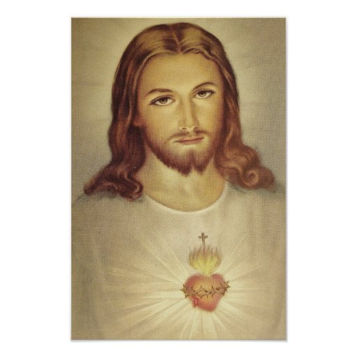 Classic Sacred Heart of Jesus Poster
