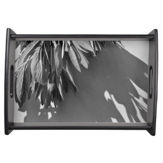 Classic Sage - black and white Serving Tray