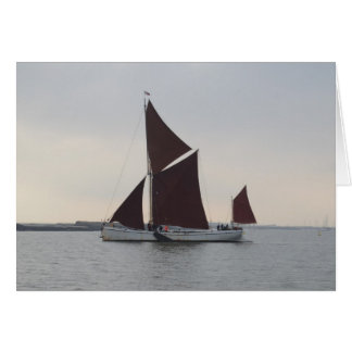 Classic Sailing Barge Card