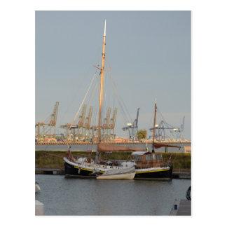 Classic Sailing Barge Stenoa Postcard