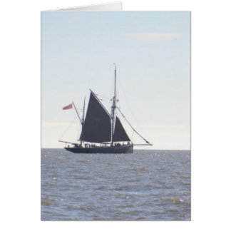 Classic Sailing Smack Greeting Card