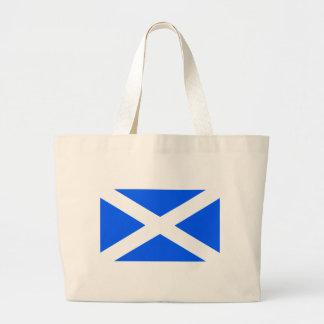 Classic saltire flag image canvas bags