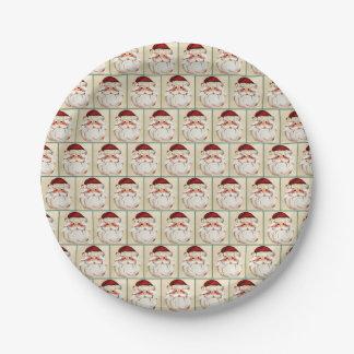 Classic Santa Claus Face Paper Plate