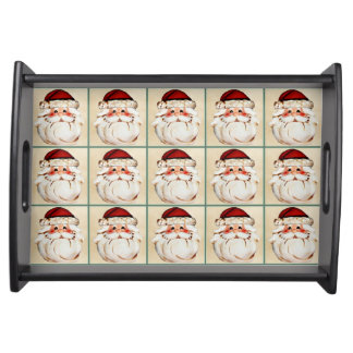 Classic Santa Claus Face Serving Tray