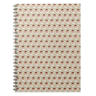 Classic Santa Claus Face Spiral Notebook