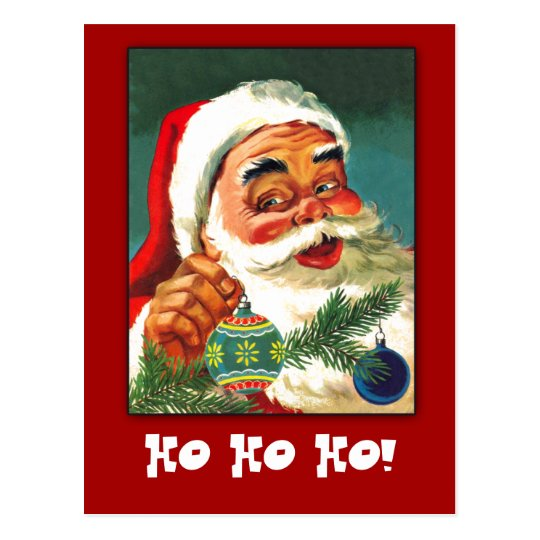 Classic Santa Claus Greeting Card to Customise