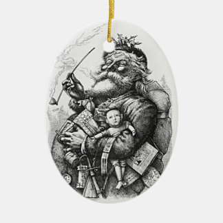 Classic Santa Claus Image Christmas Ornament
