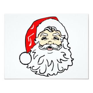 "Classic Santa Claus 4.25"" X 5.5"" Invitation Card"