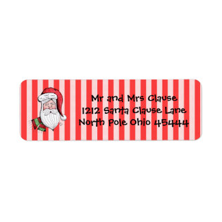 Classic Santa Clause Return Address Labels