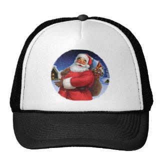 """""""Classic Santa"""" Close Up Trucker Hats"""