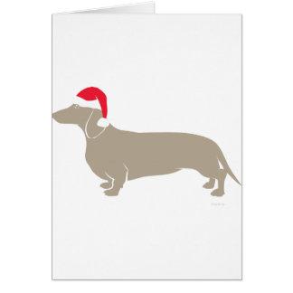 Classic Santa Doxie Dachshund Cards